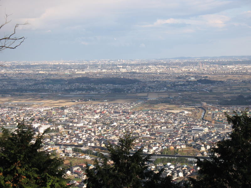 View of Hadano City and Beyond from Chogenji Temple.