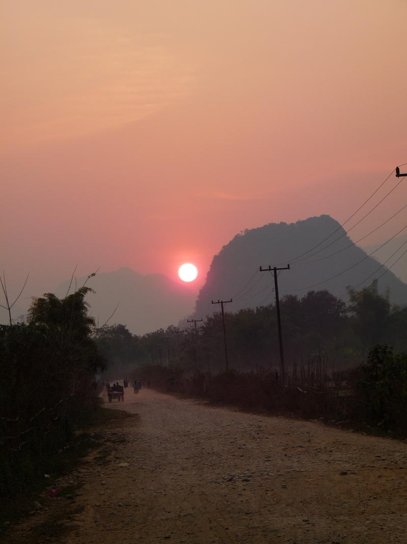 Another beautiful Lao sunset