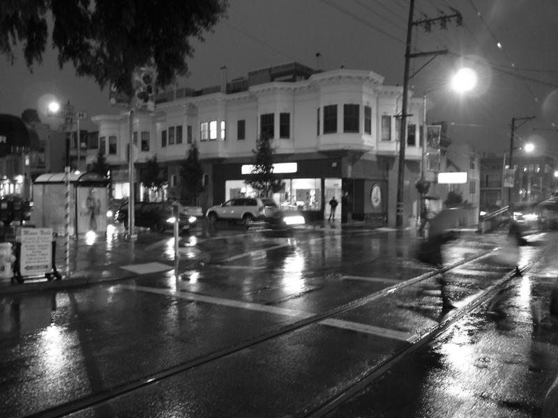 A rainy evening in San Francisco
